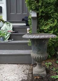 how to paint a cast iron urn the