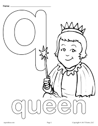 Small Picture Letter Q Alphabet Coloring Pages 3 FREE Printable Versions