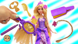 disney princess rapunzel draw n style with hair color markers at barbie fairytale salon you