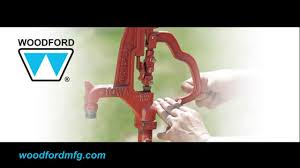 simmons water hydrant. woodford y34 yard hydrant - adjust linkage more or less snap in the handle youtube simmons water