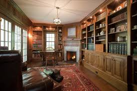 traditional office design. Country Villa Traditional Home Office Library New York By Throughout Design 19