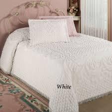 kingston beige or white chenille bedspreads