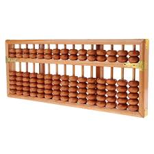 Wooden Abacus Calculator Kids Developing Toy Wooden Beads Frame Math Learning
