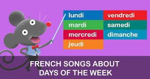 French Days Of The Week Days Of The Week French