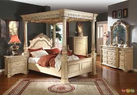 Creative Of White Traditional Bedroom Furniture Antique Queen Poster ...
