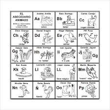 Sample Spanish Alphabet Chart 7 Documents In Pdf Word
