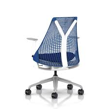sayl office chair. herman miller sayl chair back fog arms base white frame berry blue office e