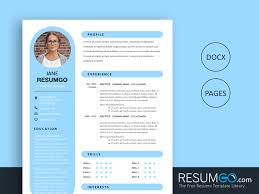 What Is Needed For A Modern Resume Rhea Round Resume Template Resumgo Com