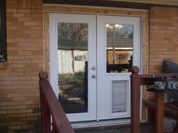 Backyards : Patio Doors With Doggy Blog Door Doggie French ...