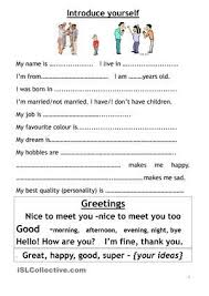 Introduce Myself How To Introduce Yourself English For