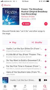 Frozen Broadway Cast Recording is on Apple Music now! : Broadway