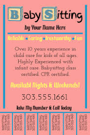 Babysitting Flyer Template Microsoft Word Free Customize 310 Babysitting Templates Postermywall