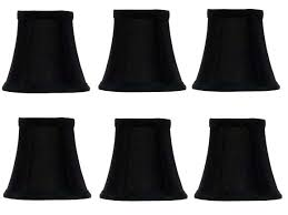clip on chandelier shade shades black silk with gold interior 4 inch flared bell lampshades set clip on chandelier shade