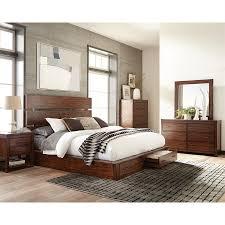 Scott Living Dark Cocoa Platform Bed with Storage. Multiple Sizes