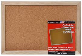 Cork Bulletin Board Amazoncom Dooley Wood Framed Cork Board 11 X 17 Inches 1