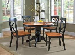 black wood dining chair. Interesting Furniture For Dining Room Decoration Using Round Pedestal Black Wood Table : Good Picture Chair