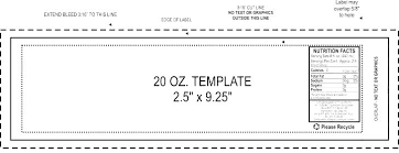 Ingredients Label Template Soda Labels Template