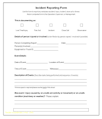Incident Reporting Template Fascinating Employee Incident Report Form Template Injury Lovely Stock Of