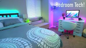 High Tech Bedroom Teching Out Our Bedroom Room Tour 2017 Youtube