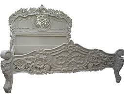 Rococo French White Double Bed