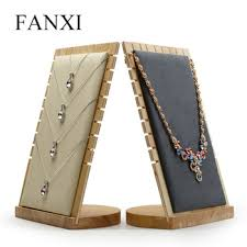 Wooden Necklace Display Stands Online Shop Wood Necklace Display Bust Pendant Display Stand Wood 83