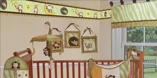cute monkey crib bedding set
