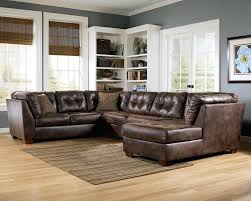 grey and brown furniture. Camel Colored Leather Sofa Brown Furniture Living Room Paint Color Small L Shaped Appealing With Wooden Flooring And Grey Wall U R