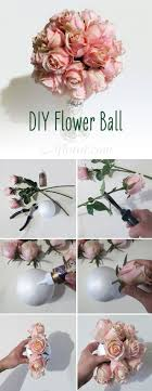 DIY Flower Ball. Make your own pomander ball with silk flowers from  Afloral.com