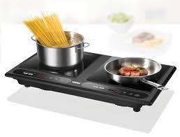Bếp từ đôi Unold 58265 - 7 mức công suất từ 400-1800 W. - 6 mức nhiệt độ từ  60° C đến 240°C. - Kích thước mặt nấu: 2 x 27 x 27 cm. Bếp t…