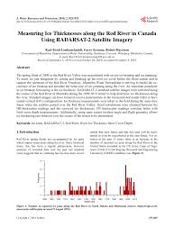 Army Corp Of Engineers Ice Thickness Chart Pdf Measuring Ice Thicknesses Along The Red River In Canada
