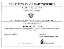 Group Certificate Template Certificate Of Partnership Template The Management Edge Group