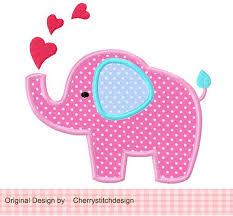 Best 25+ Elephant applique ideas on Pinterest   Cute elephant ... & Elephant with hearts Machine Embroidery Applique Design -4x4 5x5 6x6 inch Adamdwight.com