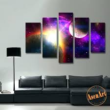 canvas wall paintings 5 piece canvas paintings 5 piece canvas art painting galaxy planet canvas wall
