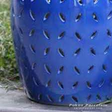 rynq151 c pierced cobalt solid color modern ceramic counter stool