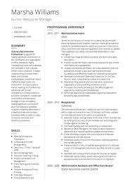 Hr Resume Templates Amazing HR CV Examples And Template