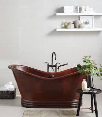 aurora 72 copper bathtub in antique finish