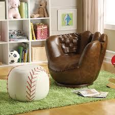 sport themed baseball glove chair  baseball ottoman  belfort