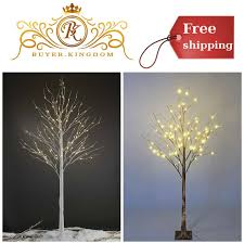 Outdoor Lighted Stick Trees Led Lighted Birch Tree Warm White Christmas Tree Decoration Indoor Outdoor Use
