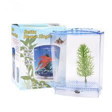 Small Fish Bowl Decorations Acrylic Aquarium Single Betta Fish Bowl Fighting Fish Tank Small 59