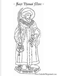 saint thomas more catholic coloring page feast day is june 22nd