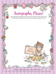Small Picture Autographs Please Printable Coloring Sheet Fancy Nancy