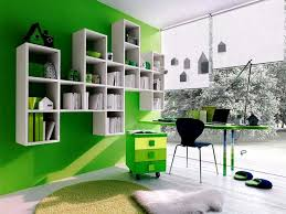 office wall colors ideas. Office \u0026 Workspace : Home Color Scheme Idea With Green Colored Wall Paint Plus White Wooden Modular Shelves Working Table Colors Ideas