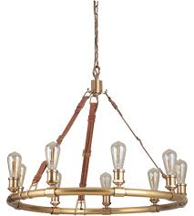 craftmade 48129 vb huxley 9 light 34 inch vintage brass chandelier ceiling light gallery collection
