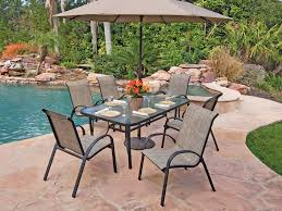 outdoor dining table and chairs. Cape Cod Sling Aluminum 7 Pc. Dining Set Outdoor Dining Table And Chairs