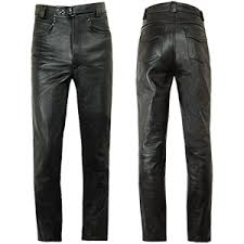 <b>Men's Leather</b> Motorcycle <b>Jeans</b>