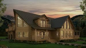 grand log home the deerfield has it all when you are looking for a larger