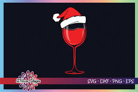 Christmas Wine Glasses With Santa Hat Graphic By Ssflower Creative Fabrica