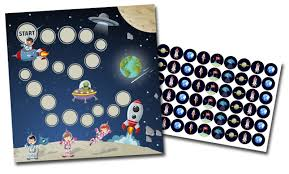 Reward Chart Target Reward Chart With Stickers Space Select Potty Target