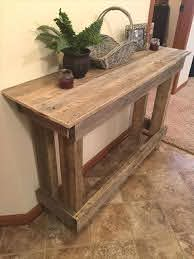 25 pallet console tables for entryways
