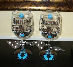 baby footprints custom grandma grammy nana sippy cup wine glass